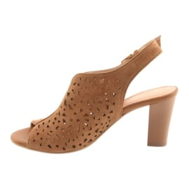 Ażurowe sandały na słupku Espinto 317 2