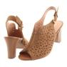 Ażurowe sandały na słupku Espinto 317 4