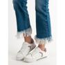 Ideal Shoes Buty Sportowe Z Cyrkoniami białe 1