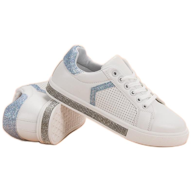 Ideal Shoes białe Buty Sportowe Z Cyrkoniami zdjęcie 6