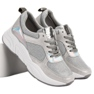 Ideal Shoes szare Srebrne Buty Sportowe zdjęcie 3
