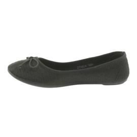 McKey trampki balerinki wsuwane czarne 2