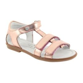 Sandałki dziewczęce różowe złoto Bartek 56016 2