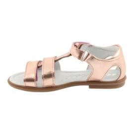 Sandałki dziewczęce różowe złoto Bartek 56016 żółte 3