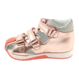 Bartek 81021 sandałki różowe złoto 2
