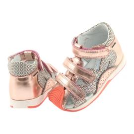 Bartek 81021 sandałki różowe złoto 4