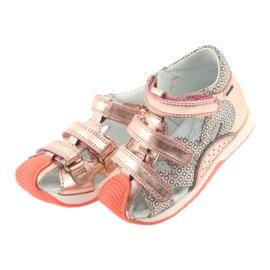 Bartek 81021 sandałki różowe złoto 3