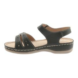 Sandały damskie comfort DK 25131 czarne 2