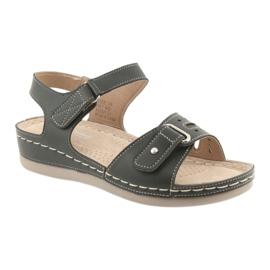 Sandały damskie comfort DK 25131 czarne 1
