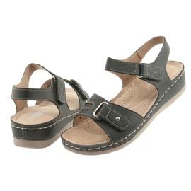Sandały damskie comfort DK 25131 czarne 4