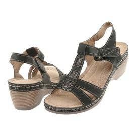 Sandały damskie komfortowe DK czarne szare 4