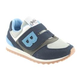 Befado obuwie dziecięce 516Y041 szare granatowe 1