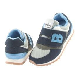 Befado obuwie dziecięce 516Y041 szare granatowe 5