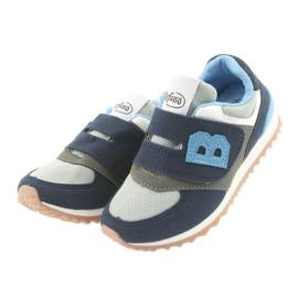 Befado obuwie dziecięce 516Y041 szare granatowe 3