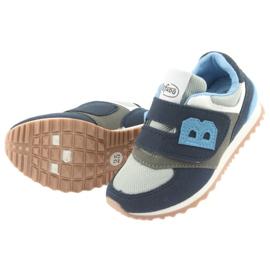 Befado obuwie dziecięce 516Y041 szare granatowe 4
