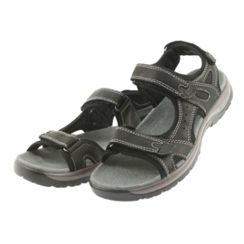 Sandały DK czarne na rzepy lekki spód EVA 3