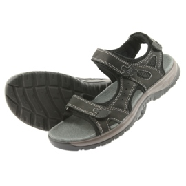 Sandały DK czarne na rzepy lekki spód EVA 4