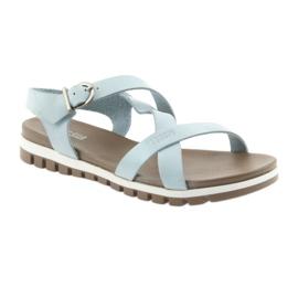 Sandały komfortowe Big Star niebieskie 1
