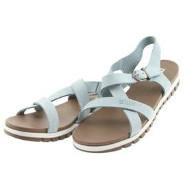 Sandały komfortowe Big Star niebieskie 3