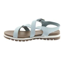 Sandały komfortowe Big Star niebieskie 2