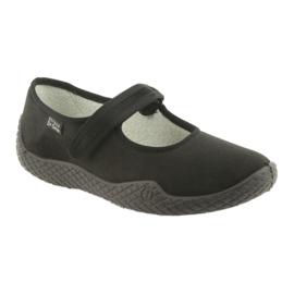Befado obuwie damskie pu--young 197D002 czarne 2