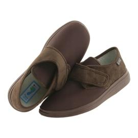 Befado obuwie damskie pu 036D008 brązowe 3