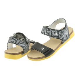 Sandałki dziewczęce Bartek 56183 czarne szare 4