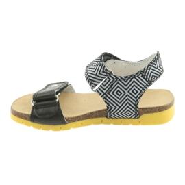 Sandałki dziewczęce Bartek 56183 czarne szare 2