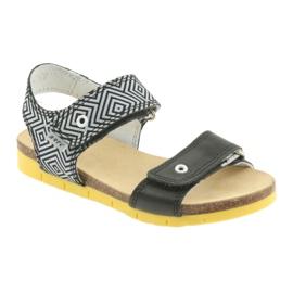 Sandałki dziewczęce Bartek 56183 czarne szare 1