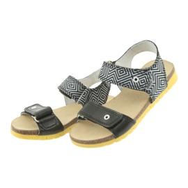 Sandałki dziewczęce Bartek 56183 czarne szare 3