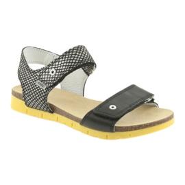 Sandałki dziewczęce Bartek 59183 czarne szare 1