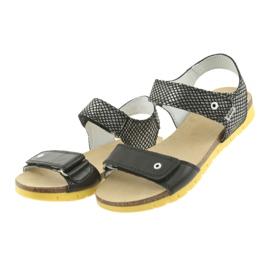 Sandałki dziewczęce Bartek 59183 czarne szare 3