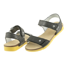 Sandałki dziewczęce Bartek 59183 czarne szare 4