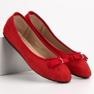 GUAPISSIMA czerwone Baleriny Z Brokatem zdjęcie 7
