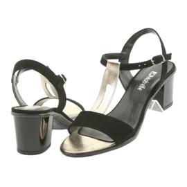 Sandały damskie Anabelle 1447 czarno/złote czarne żółte 4