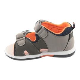 Sandałki chłopięce American Club DR13 szare pomarańczowe granatowe 2