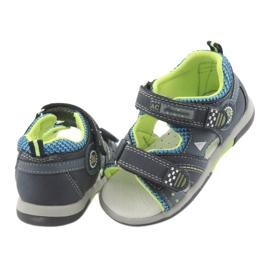 Sandałki chłopięce American Club DR13 granatowe niebieskie zielone 4