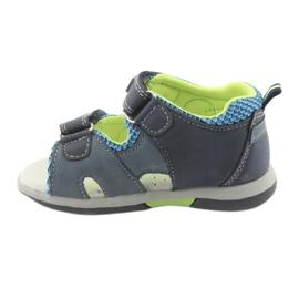 Sandałki chłopięce American Club DR13 granatowe niebieskie zielone 2