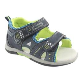Sandałki chłopięce American Club DR13 granatowe niebieskie zielone 1