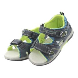 Sandałki chłopięce American Club DR13 granatowe niebieskie zielone 3