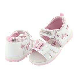 American Club Sandałki dziewczęce motylki American DR19 białe różowe 4