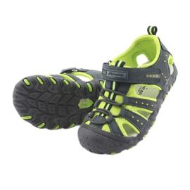 Sandałki chłopięce rzep American Club DR11 zielone granatowe 5