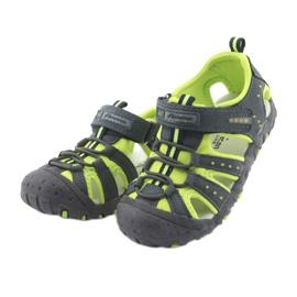 Sandałki chłopięce rzep American Club DR11 zielone granatowe 3