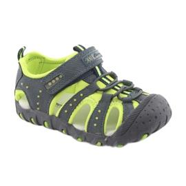 Sandałki chłopięce rzep American Club DR11 zielone granatowe 1