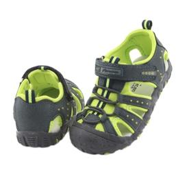 Sandałki chłopięce rzep American Club DR11 zielone granatowe 4