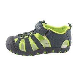 Sandałki chłopięce rzep American Club DR11 zielone granatowe 2