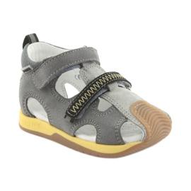 Sandałki chłopięce rzepy Bartek 81772 szare żółte 1