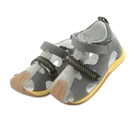 Sandałki chłopięce rzepy Bartek 81772 szare żółte 3
