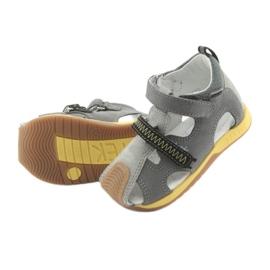 Sandałki chłopięce rzepy Bartek 81772 szare żółte 5