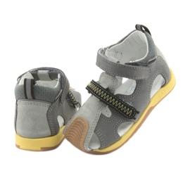 Sandałki chłopięce rzepy Bartek 81772 szare żółte 4